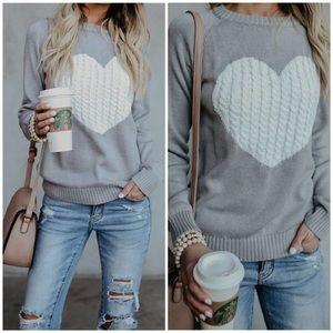 Sweaters - Gray HEART ♥️ SWEATER